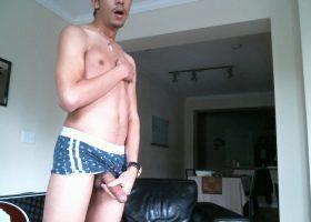 Skinny Amateur Alex Strokes His Big Dick