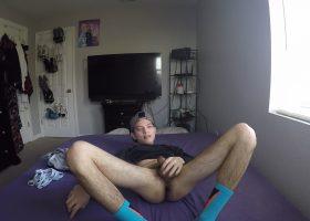 Baby Faced Kainan Strokes His Big Dick