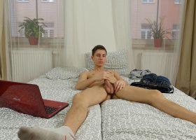 Twink Johny Cherry Jerks Off On Webcam
