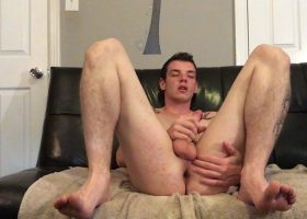 Young Amateur Ryan Jacks Off On Webcam