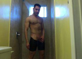 Amateur Josh Jerks Off In The Shower