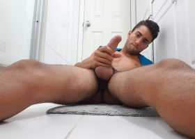 Hung Twink Lucas Strokes His Monster