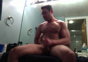 Amateur Josh Jacking In The Bathroom