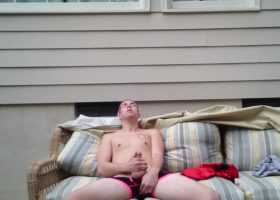 Amateur Cole Stroking In The Sunlight