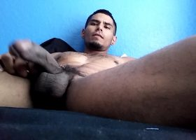 Muscular Latin Amateur Jerks Off