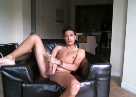 Skinny Young Latin Amateur Jerks Off